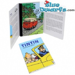 16x Tarjeta postal Tintin  (+/- 10,5 x 15cm)