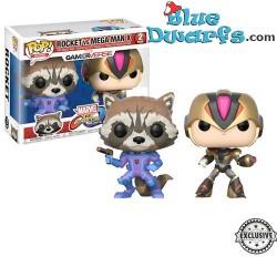 Funko Pop! Rocket vs Mega Man X Marvel 2pack EXCLUSIVE