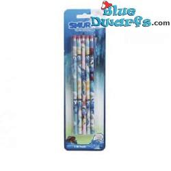 5 Smurf pencil with eraser...