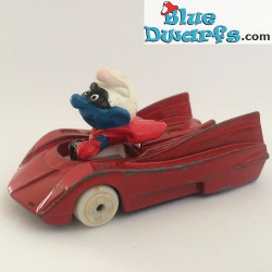 Superman Smurf in car ESCI (G)