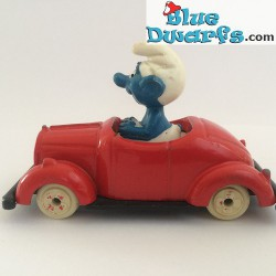 Smurf in red car ESCI (VG)