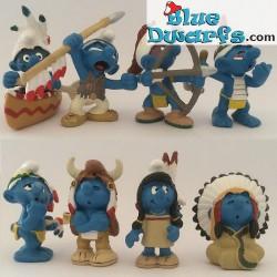 20549: Canoe Smurf (native americans 2007)
