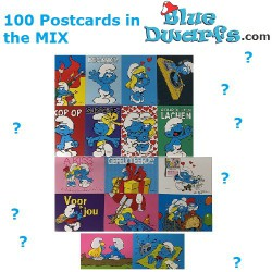100x Postcard of the smurfs...