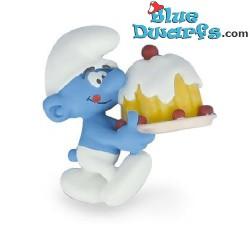 Plastoy Smurf met taart