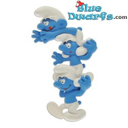 "Plastoy ""The Column of the Smurfs"" smurfs (magnet, nr. 70029)"