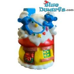 Smurf house Christmas style...