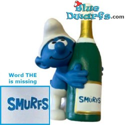 20821: Smurf with bottle...