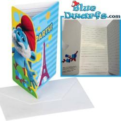 6 x (invitation) cards...