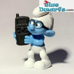 Brainy Smurf with telephone...