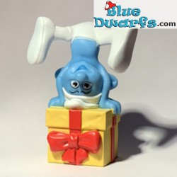 Jokey Smurf with present...