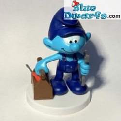 Plumber Smurf with tool box...