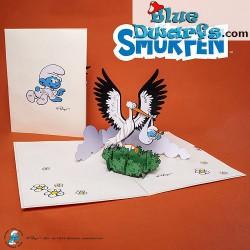 Pop Up Karte: Baby Schlumpf...