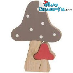 Wooden decoration mushroom...