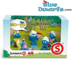 1990-1999 displaybox with 5 smurfs (anniversary edition, 2008)