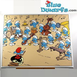 Canvas painting: Smurf band...