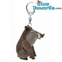 Keyring Wild Boar figurine:...