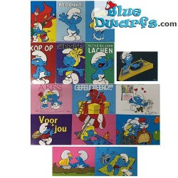 16x Postcards of the smurfs...