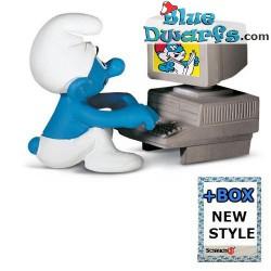 computer smurf 40249 Computerschlumpf new box !