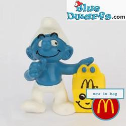 Smurf met Happy Meal box...