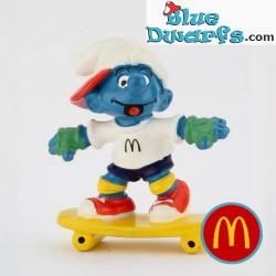 Skateboard Fahrer Schlumpf...