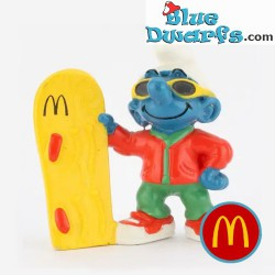 Smurf with skateboard in...