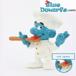 20042: Chef Smurf with red...