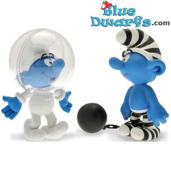 Plastoy Astro Smurf (00165) + Chain Gang Smurf (00164)