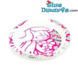 5 x smurfette bowl II *FLAT* (type I/plastic)