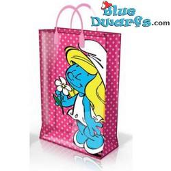 Smurfette plastic bag (+/-31 x 12 x 40 cm)