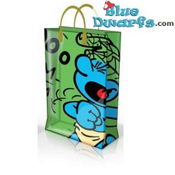 Jungle Smurf plastic bag (+/-31 x 12 x 40 cm)