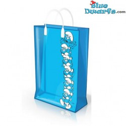 Smurf tower plastic bag (+/-31 x 12 x 40 cm)