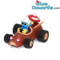 Race Car Smurf in mushroomcar *Pull back racer*