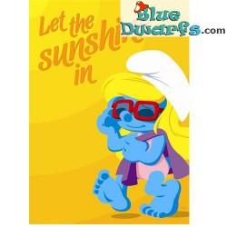 Poster 'Let the sunshine in *smurfette*  (50 x 70 cm)