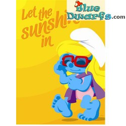 Poster 'Let the sunshine in *smurfin*  (50 x 70 cm)