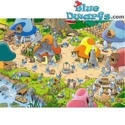 Poster 'Smurf village' (50 x 70 cm)