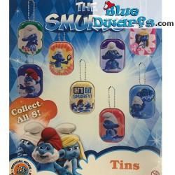 8 Metal Tooth box of smurfs...