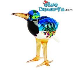 Glass figurine: Kiwi blue...