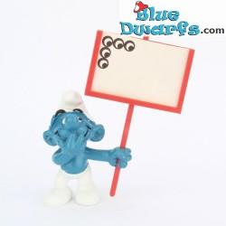 40208: Sign bearer Smurf...