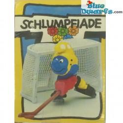 40505: Hockeyeur Schtroumpf sur glace (Super Schtroumpf/ MIB)