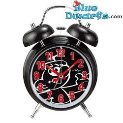 Schlumpf Mini-Uhr *Schwarz mit WECKER* (Schlüsselring)