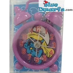 Smurfette with sunglasses mini clock with alarm (keyring)