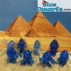 8 Egyptian smurfs Mini's