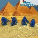 8 Egyptian smurfs Mini's