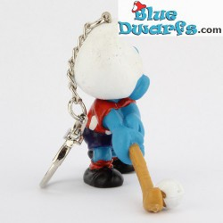 20133: Fieldhockey Smurf (red/white shirt/ keyring)