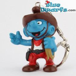 20122: Cowboy Smurf (keyring)