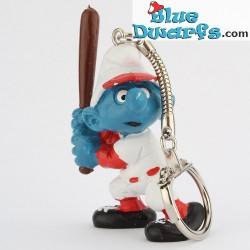 20129: Baseballbatter Smurf (keyring)