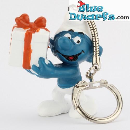 20086: Present Smurf (keyring)