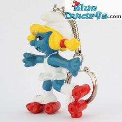20126: Rollerskate Smurfette (keyring)