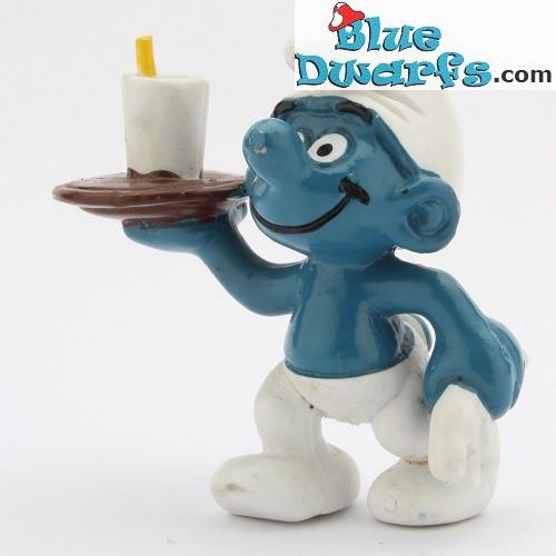20162: Waiter Smurf (brown tray)