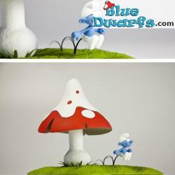 Fariboles Smurf with mushroom